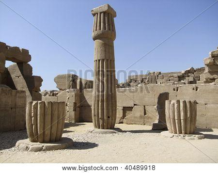 Stone Column Around Precinct Of Amun-re