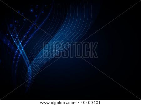 Blue light and background