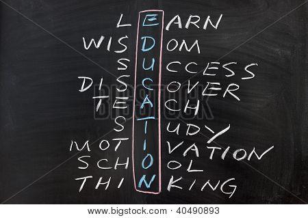 Crucigramas del concepto de educación