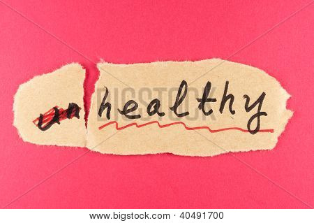 Unhealthy To Healthy