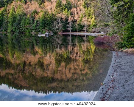 Alice Lake Beach Reflection