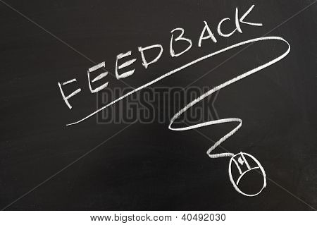Feedback Word And Mouse Symbol
