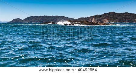 Fels Gefahr im Golf von nicoya