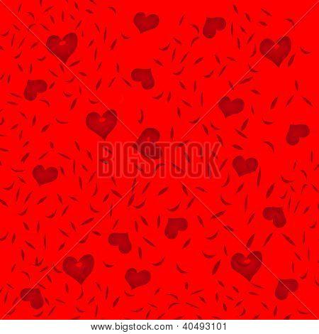Valentine red hearts