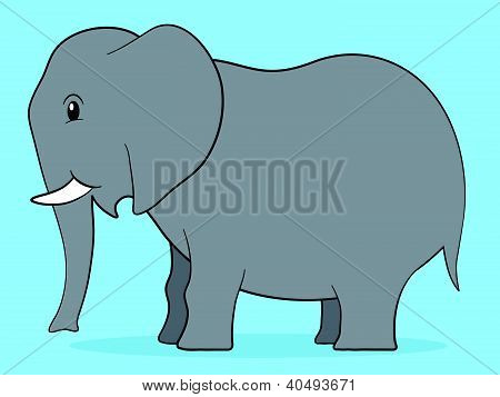 Happy cartoon elephant adult