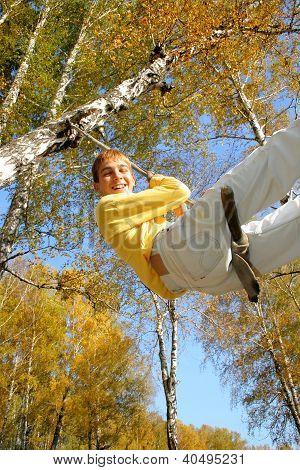 Teenager Bungee Jumping