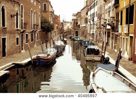 Venice Moored Boats