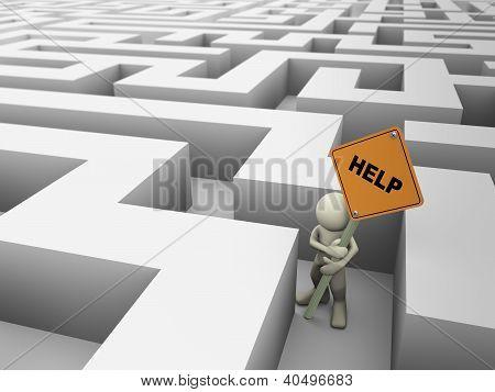 3D Man In Maze