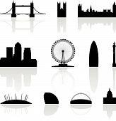 London Famous Landmarks poster