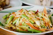 image of papaya  - thai papaya salad spicy mix vegetable on dish  - JPG