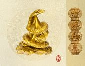 stock photo of chinese new year 2013  - Chinese 2013 for Year of Snake design - JPG