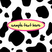 picture of panther  - Abstract vector background with cow - JPG