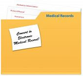 File Folder with Medical Records