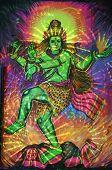 stock photo of vedas  - painting of dancing shiva in pushkar india - JPG