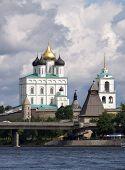 Kremlin Of Pskov On The River poster