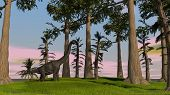 brachiosaurus in jungle