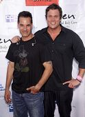 LOS ANGELES - APR 21:  ADRIAN PASDAR & BOB GUINEY Band From TV's 2nd Annual Block Party On Wisteria