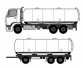 foto of tank truck  - A vector illustration of tank truck  - JPG