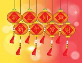 Happy Chinese New Year - Xin Zheng Ru Yi Xin Nain Fa Cai - Chinese Auspicious Word