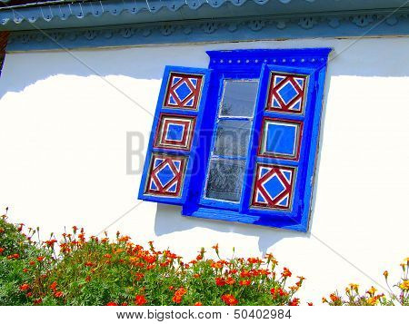 Painted Windows Traditional House