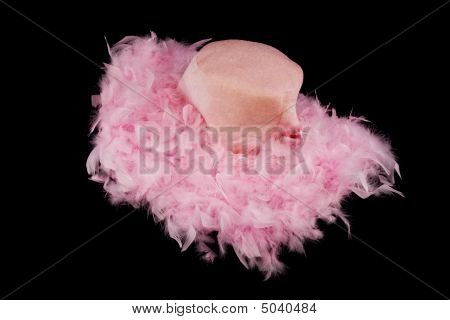 Pink Feathered Hat