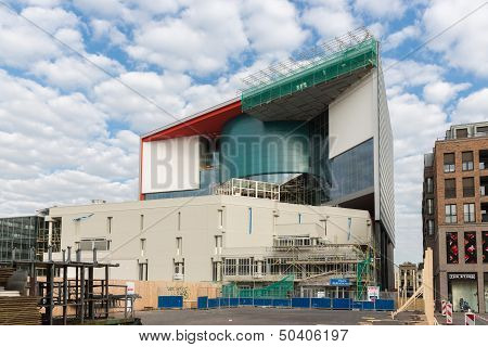 Utrecht, The Netherlands - Augustus 27: Construction Site Of The New Music Center Vredenburg In The