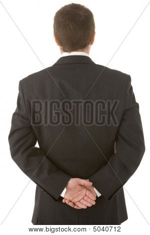 Businessman Holding His Hands Behind His Back