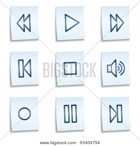 Walkman web icons, blue notes