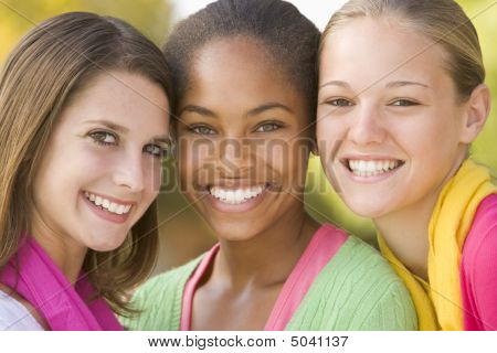 Portrait Of A Group Of Teenage Girls