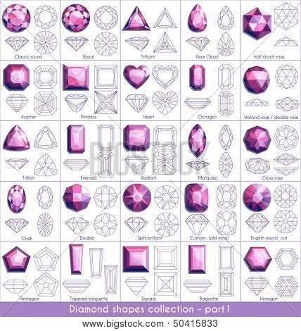 Diamond shapes collection - part 1 (eps10)