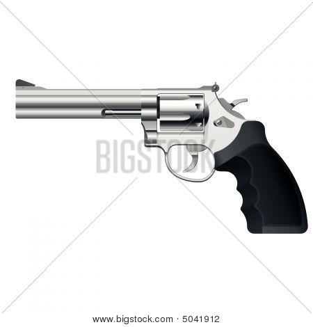 Revolver. Vector. Detailed Portrayal.