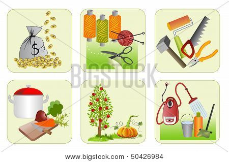 Six Icons For Home Economics