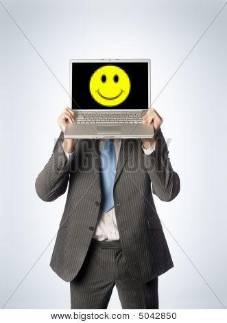 Happy Male Laptop