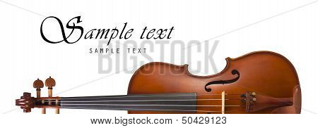 Violin, Classical shape with Space for text.