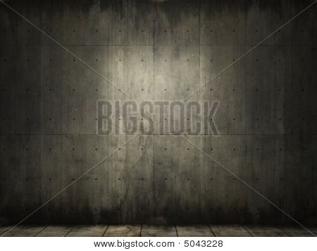 Grunge Background da sala de concreta