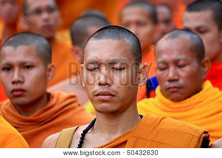 Monks praying