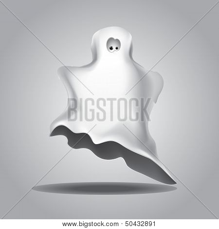 White Halloween Ghost