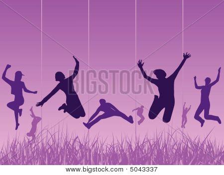 Happy People Vector