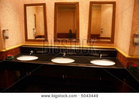 Bathroom. Toilet. Bathroom Sinks & Mirrors