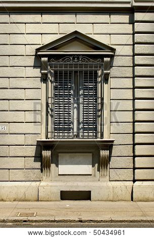 Typical Window From Florentine Architecture. Florence, Italy