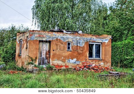 Old destroyed house