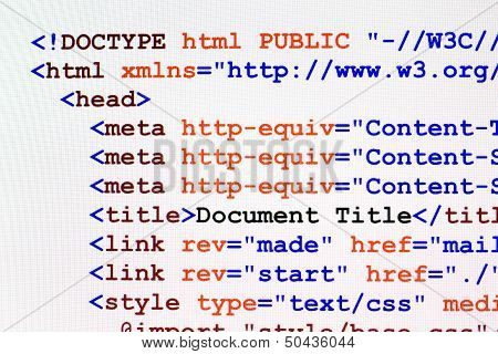 Html Web Page Code Front View