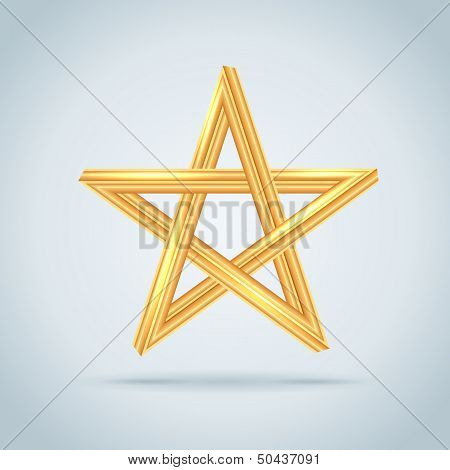 Gold Inconceivable Pentagram.