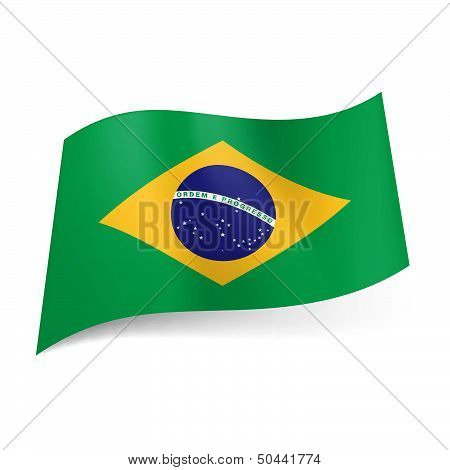 State flag of Brazil.