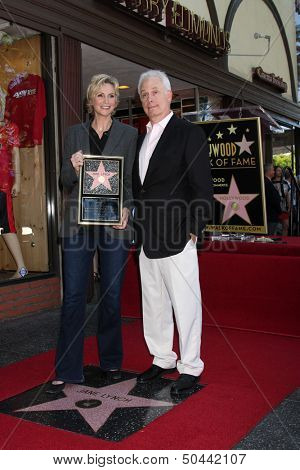 LOS ANGELES - SEP 4:  Jane Lynch, Christopher Guest at the Jane Lynch Hollywood Walk of Fame Star Ceremony on Hollywood Boulevard on September 4, 2013 in Los Angeles, CA