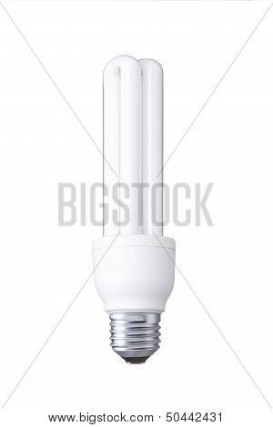 white energy saving bulb - Realistic photo image