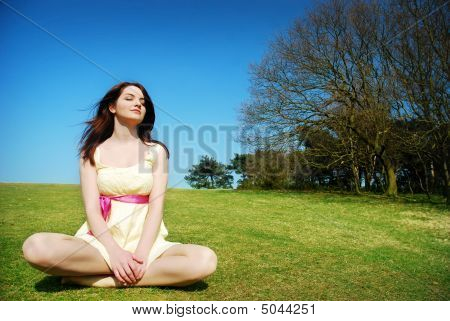 Serene Woman In Field