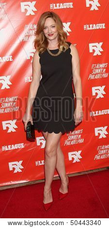 """LOS ANGELES - SEP 3:  Judy Greer at the FXX Network Launch Party And Premieres For """"It's Always Sunny In Philadelphia"""" And """"The League"""" at the Lure on September 3, 2013 in Los Angeles, CA"""