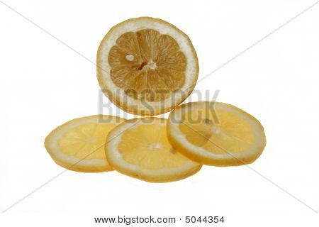 Limon On A White Background.