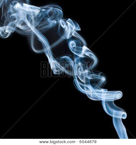 Blue Dense Smoke On Black